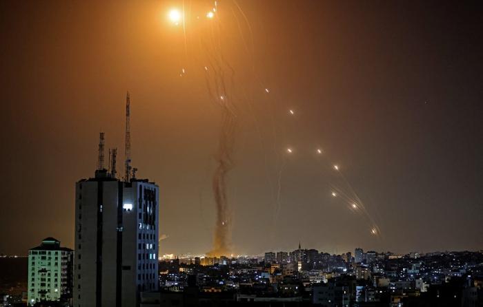 rachete trase de militanții Hamas către Israel