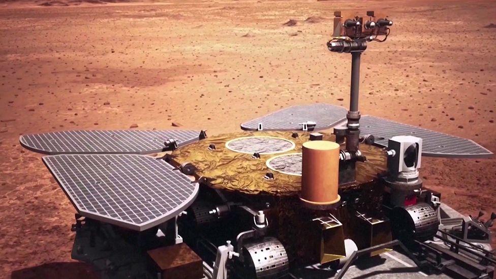China și-a plasat propriul rover pe Marte