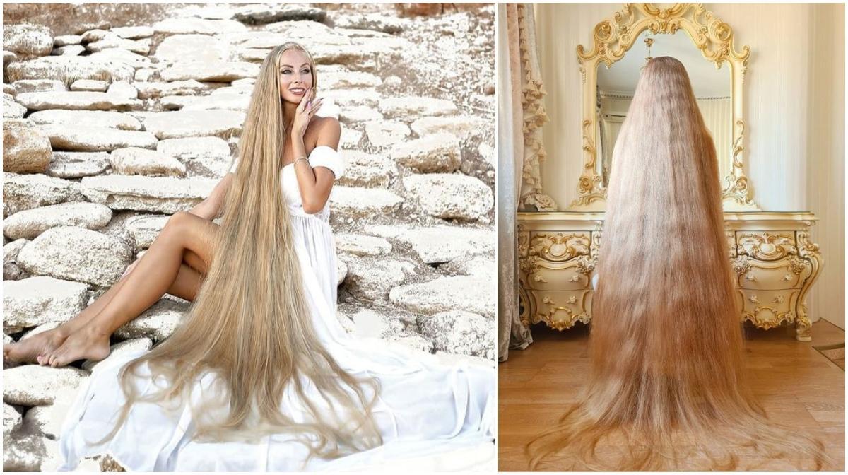 O ucraineancă uimeşte cu frumuseţea părului ei lung până la călcâie. ''Rapunzel'' nu s-a mai tuns de când avea cinci ani