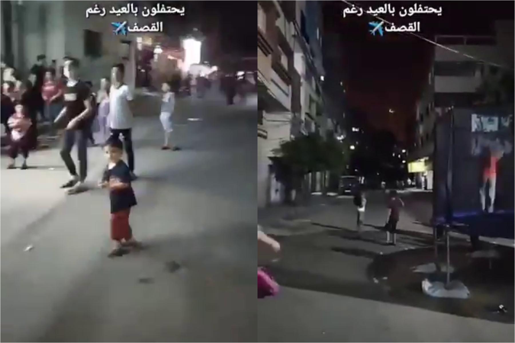 Imagini halucinante din infernul din Gaza. Copiii se joacă în stradă în timp ce bombele cad peste oraș. VIDEO