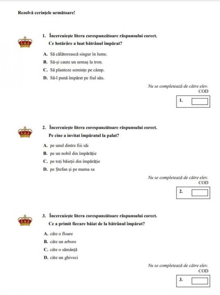 Evaluare Naţională clasa a IV-a. Elevii susţin marţi proba la Limba Română. Modele de subiecte