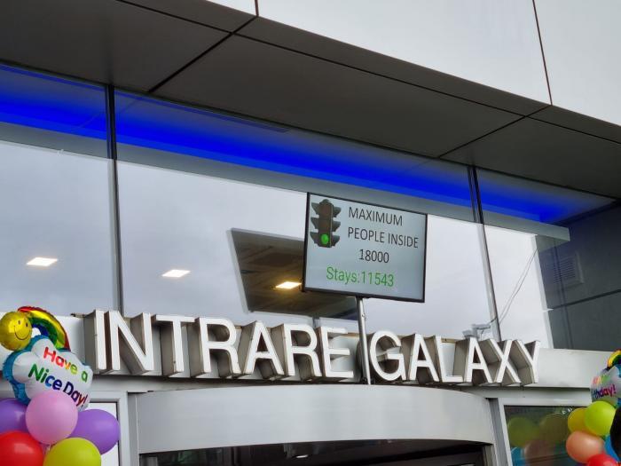 Numărătoarea făcută de sistemele mall-ului arată numărul de persoane din interior