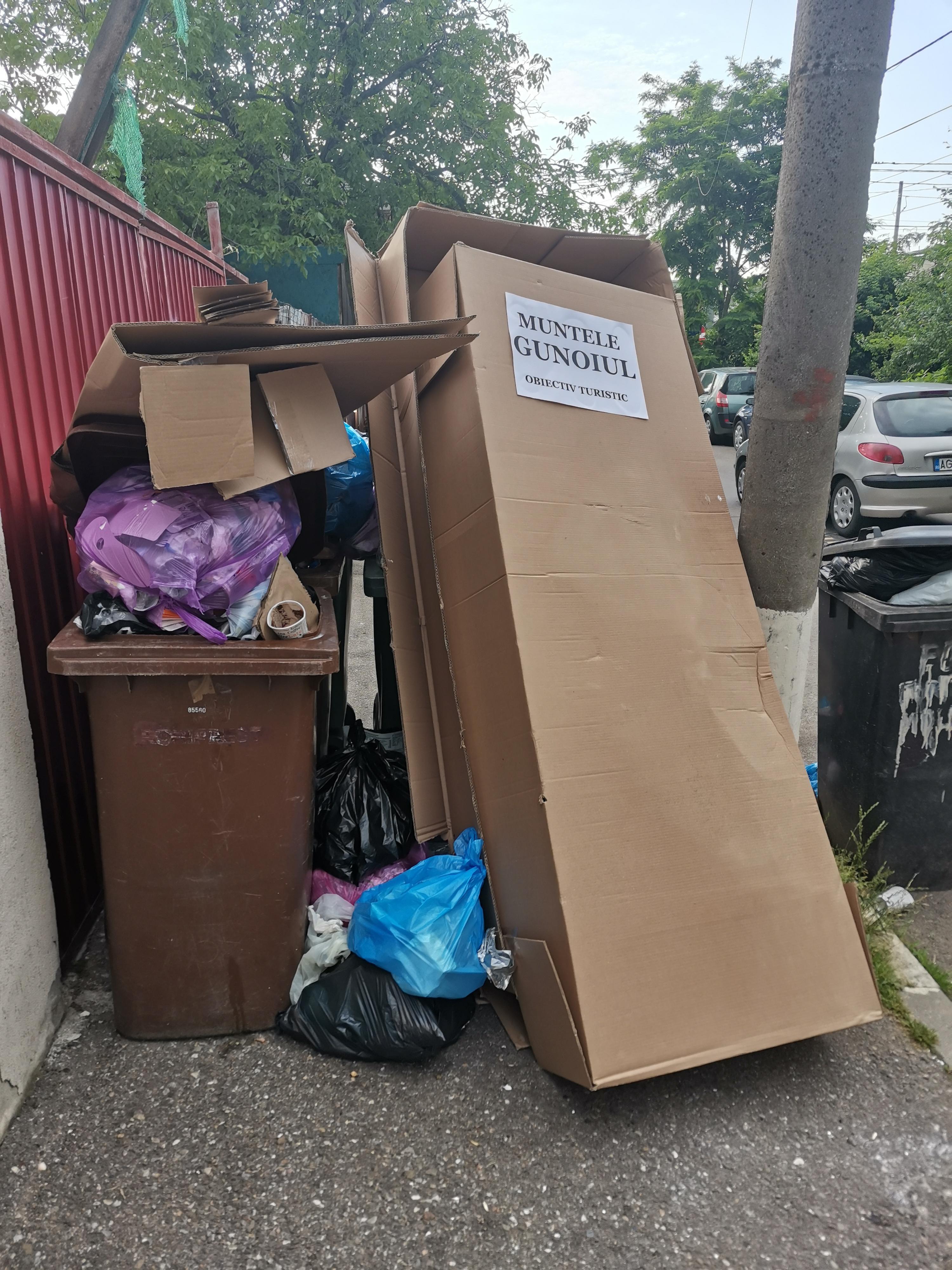 Deșeuri pe străzile din sectorul 1