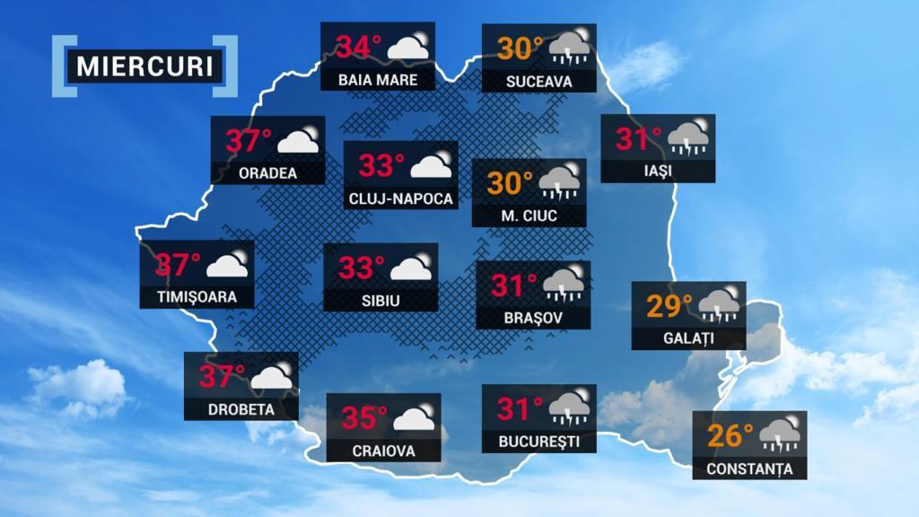 Vremea 22 iunie 2021. De la ploi la caniculă, indicele temperatură umezeală va depăși pragul critic