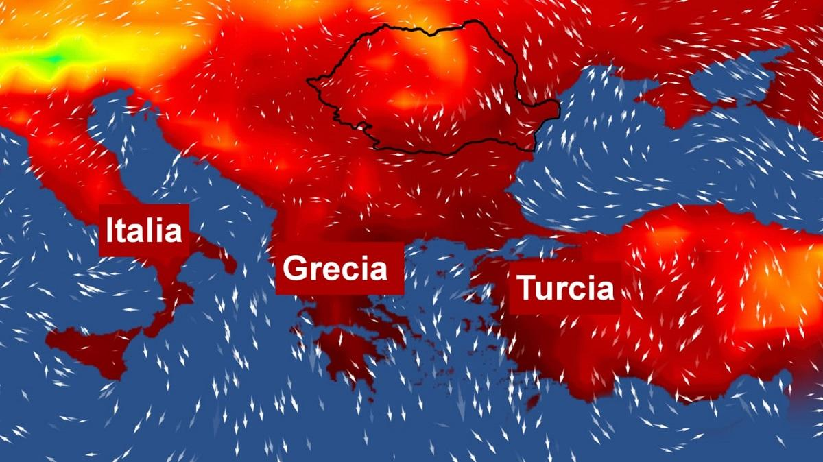 Val de căldură peste ţările preferate de români pentru vacanţe. Peste 45 de grade Celsius la umbră, în Grecia