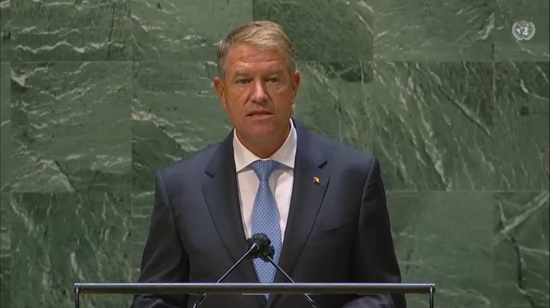 """Mesajul președintelui Klaus Iohannis, la Adunarea Generală a ONU: """"Conflictele armate, diviziunea etnică și inegalitățile sunt încă realități dure"""""""