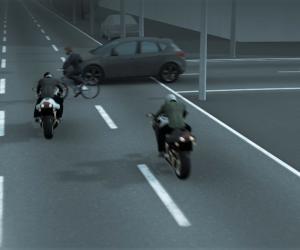 Animație: Cum s-a petrecut accidentul în care a murit tânărul polițist Ionuţ Negrilă. Motocicleta s-a rupt în două