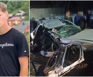 Lică a murit nevinovat, într-un Volkswagen condus de prietenul vitezoman. Mașina a intrat cu peste 100 km/oră în stâlp